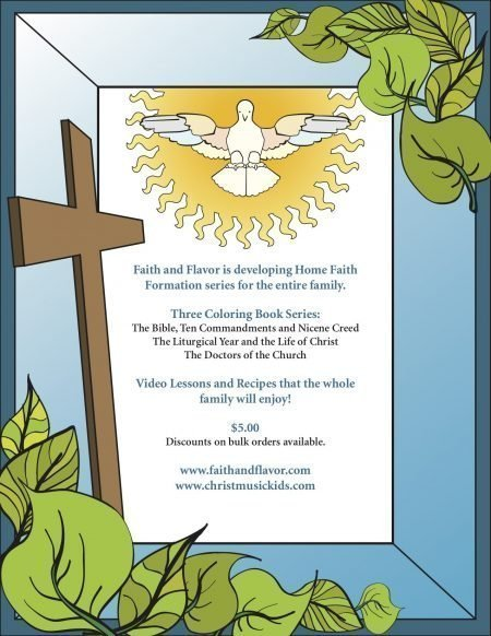 The Bible, Ten Commandments, and Nicene Creed Coloring Book Back Cover