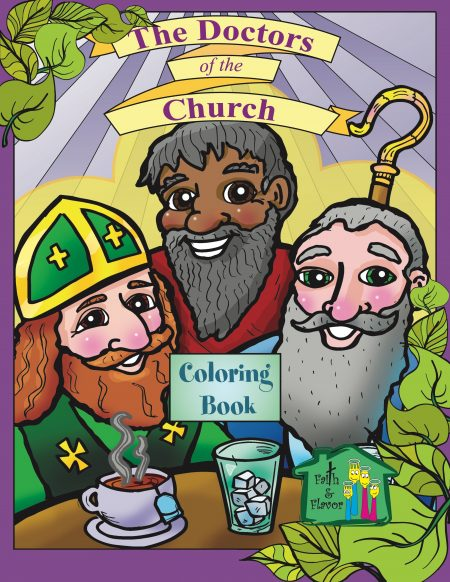 Doctors of the Church Coloring Book front cover
